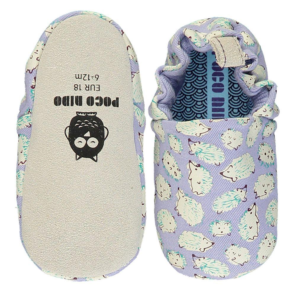 英國 Poconido - 寶寶手工鞋/學步鞋-淡紫小刺蝟