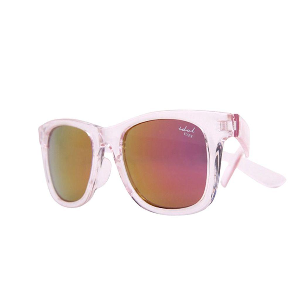 Idol EYES - 兒童太陽眼鏡-個性時尚系列Fashion-透明粉紅色 (5-10歲兒童款)