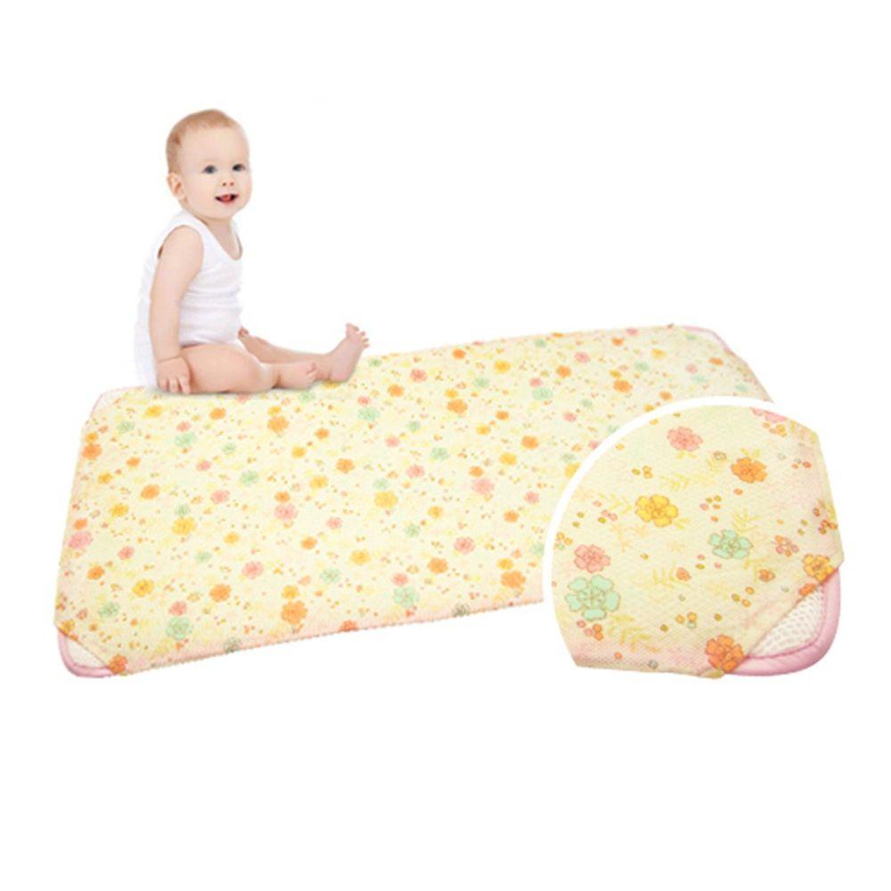 韓國 GIO Pillow - 智慧二合一有機棉超透氣排汗嬰兒床墊-甜心花朵 (M號)
