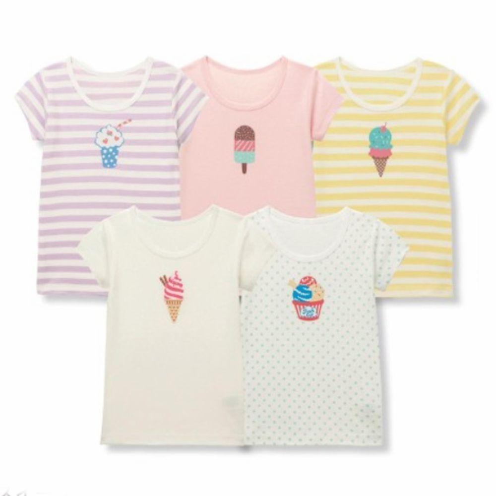日本千趣會 - GITA 超值內衣/T恤五件組 (短袖)-甜點