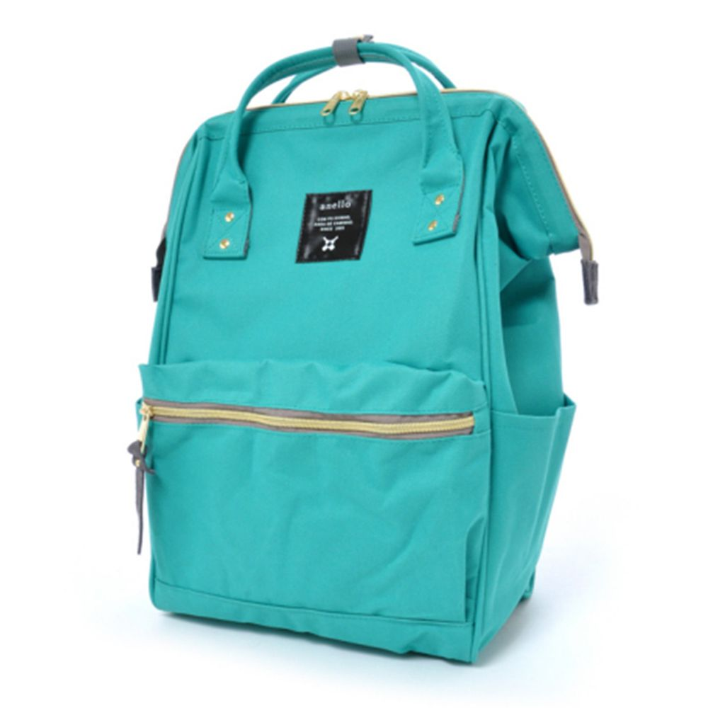 日本 Anello - 日本大開口牛津布後背包-Regular大尺寸-EGR寶綠