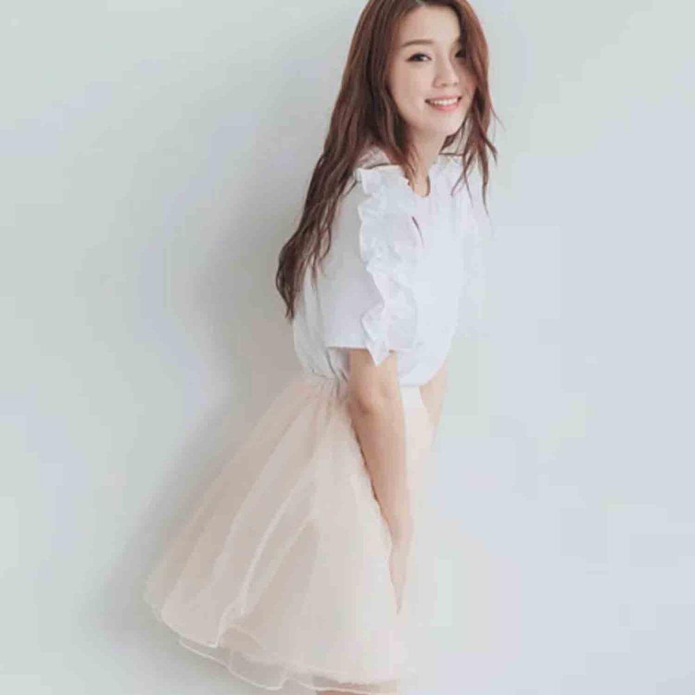 Peachy - 獨家訂製綿柔空氣紗裙-短裙款-氣質杏 (F)