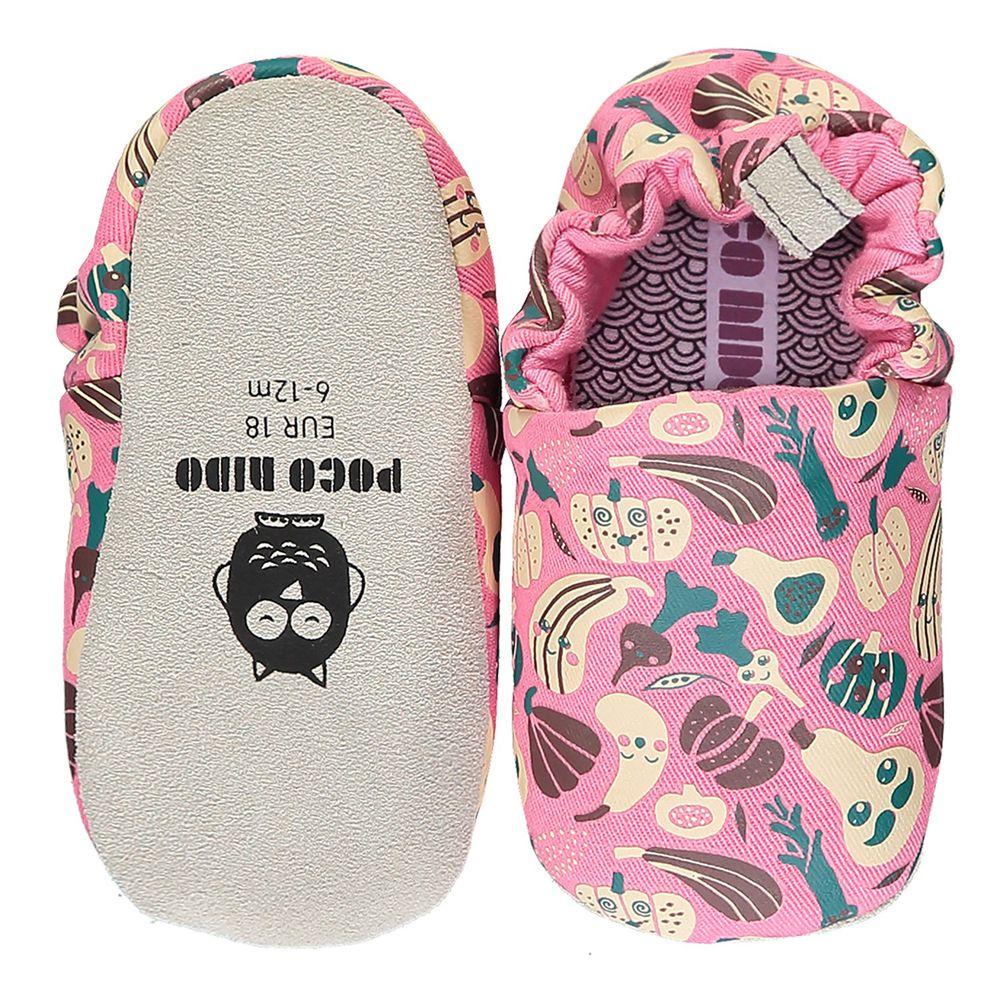 英國 Poconido - 寶寶手工鞋/學步鞋-開心農場-甜心粉