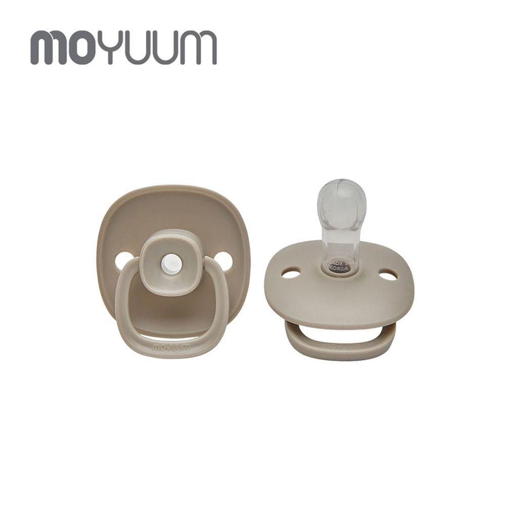 韓國 Moyuum - 母乳實感辛奇奶嘴-6M+-灰色