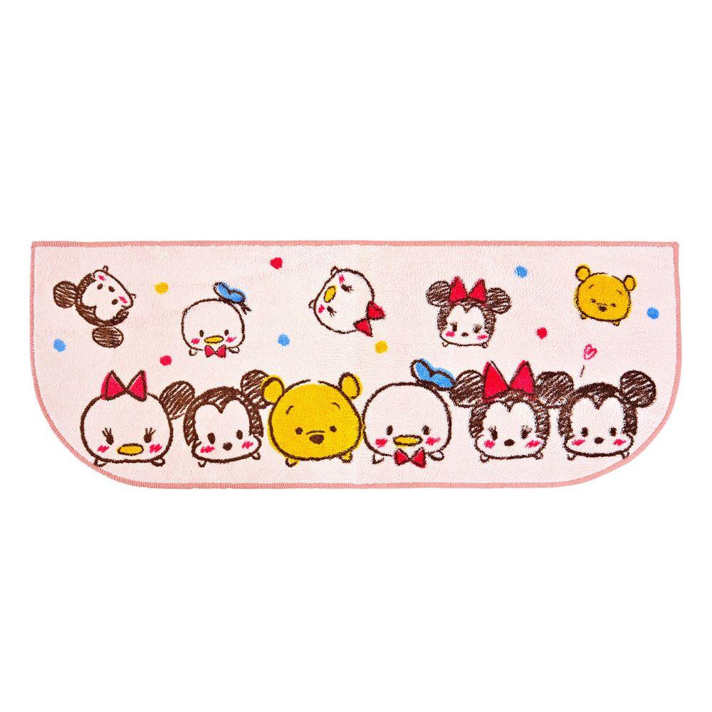 日本千趣會 - 迪士尼 長條型腳踏墊(廚房/臥室)-Tsum Tsum-粉紅 (45x120cm)