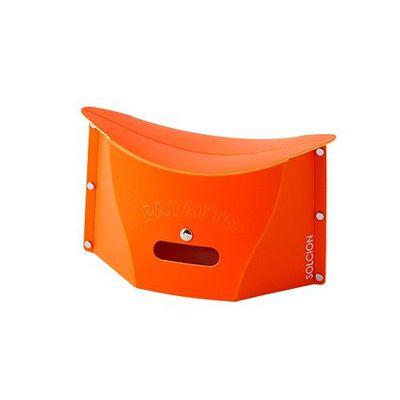 一公分超薄折疊椅-橘色 (S)