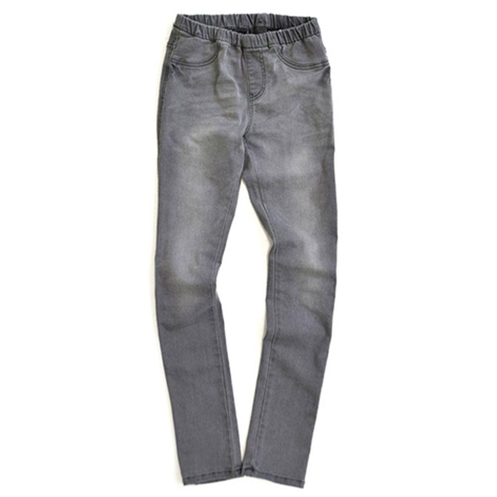 日本 zootie - 顯瘦美腿 個性丹寧窄管牛仔褲-灰黑