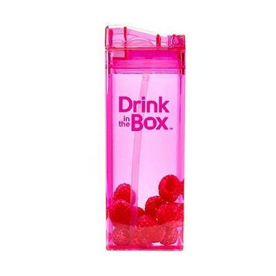 Tritan兒童戶外方形吸管杯-粉紅 (355ML)
