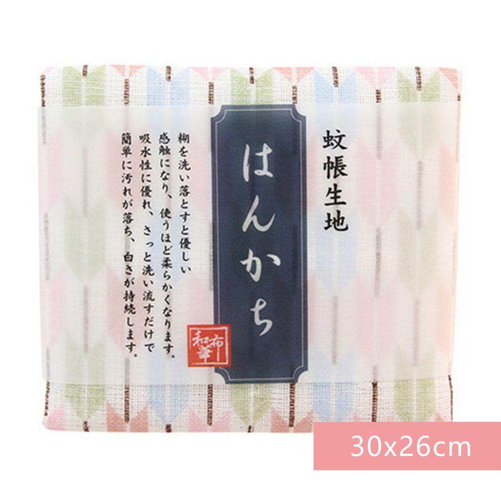 日本代購 - 【和布華】日本製奈良五重紗 手帕-箭羽 (30x26cm)