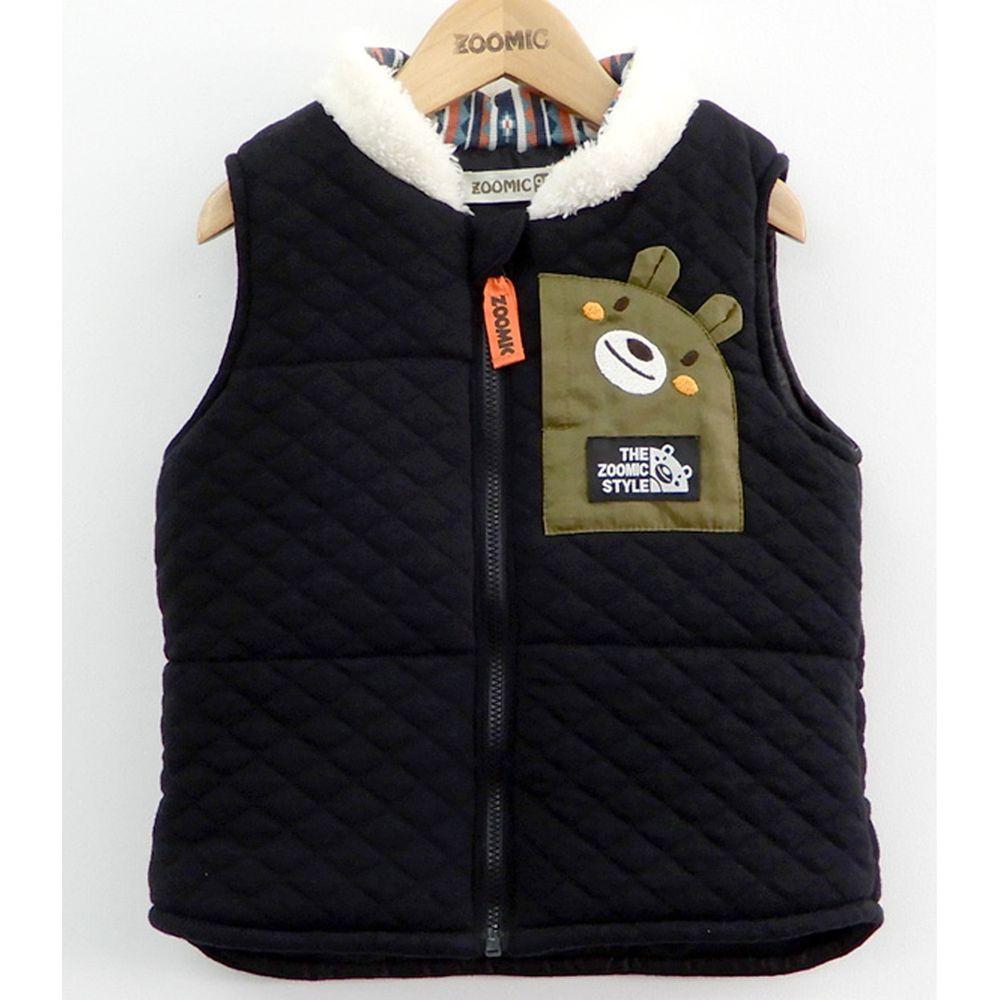 日本 ZOOLAND - 鋪棉背心外套-黑