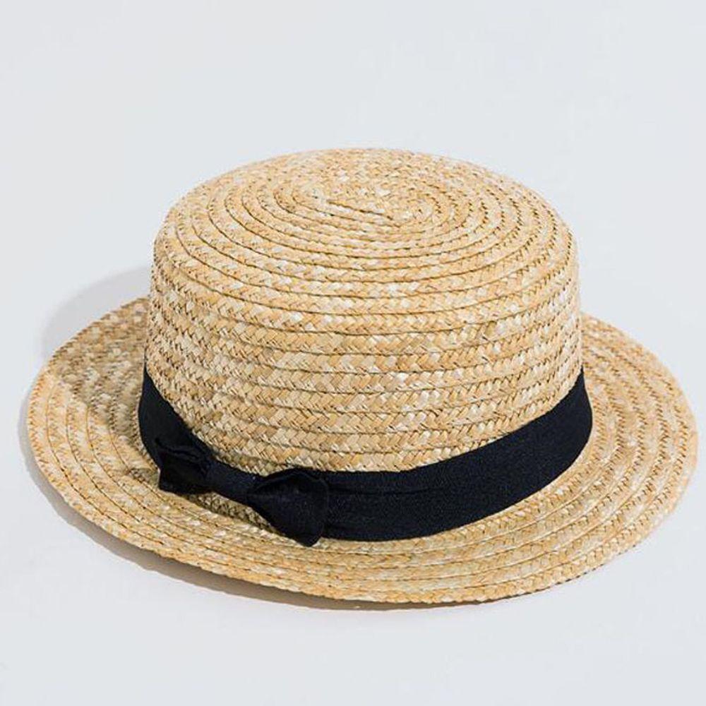 草編圓禮帽