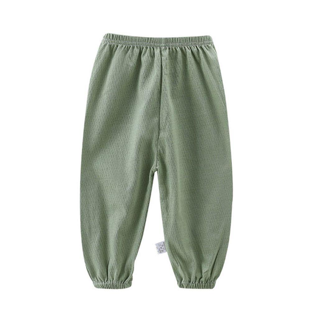 ZIHOU - 純棉網眼防蚊褲-綠色素面