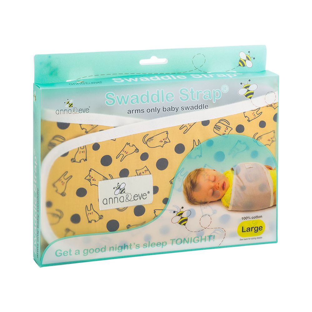 Anna&Eve - 美國 嬰兒舒眠包巾 / 防驚跳新生兒肚圍-黃色兔子躲貓貓