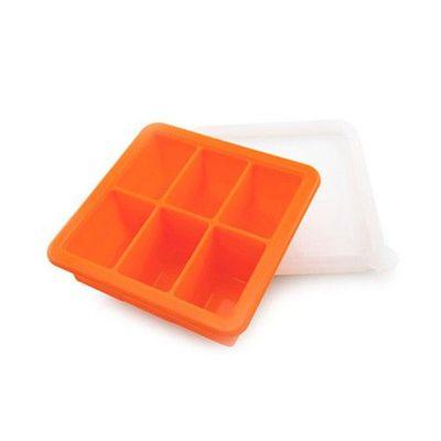 矽膠副食品分裝盒/製冰盒-6 格-橘色-6格x70mL
