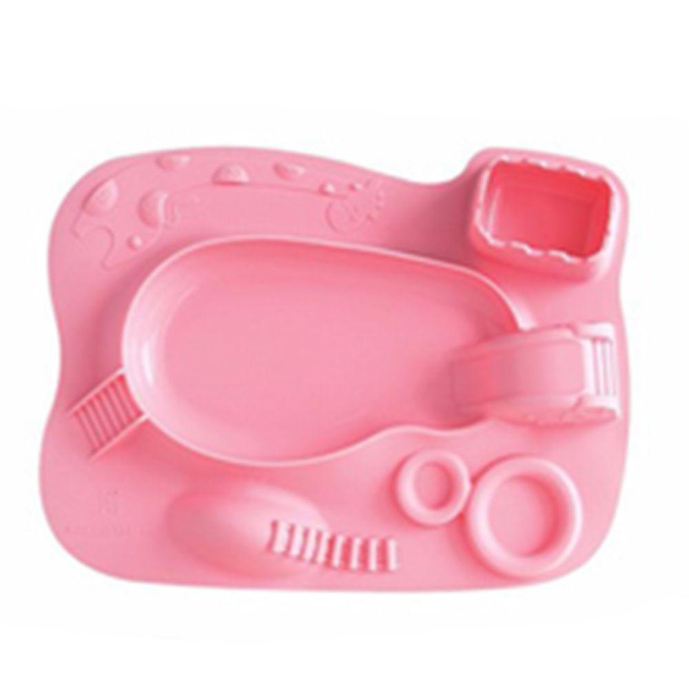 MARCUS&MARCUS - 動物樂園遊樂造型餐盤-粉色