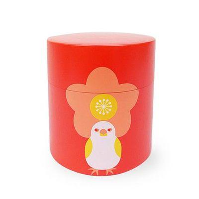 kotoritachi日本製高原綾設計款茶葉罐-紅-350ml