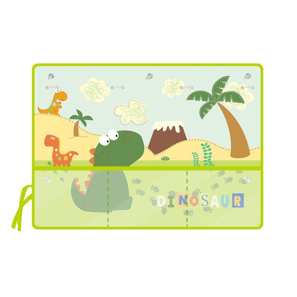 收納袋汽車遮陽窗簾-恐龍腳印