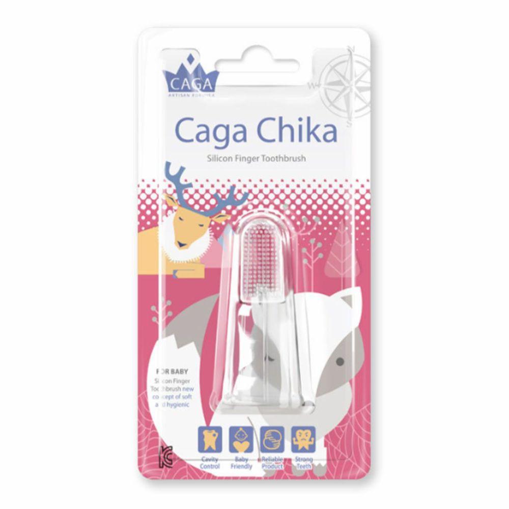 德國 CAGA 牙佳 - 矽膠指套牙刷-雪狐-紅 (0歲以上)