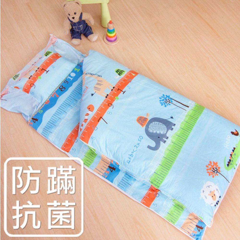鴻宇 HONGYEW - 防螨抗菌100%美國棉鋪棉兩用兒童睡袋-動物農場-2007-藍