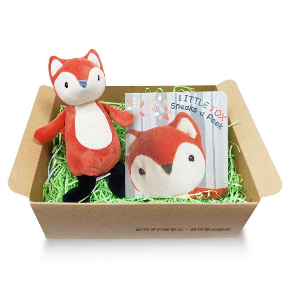 美國 MaryMeyer 蜜兒 - 淘氣狐狸經典禮盒 (安撫玩偶+繪本)