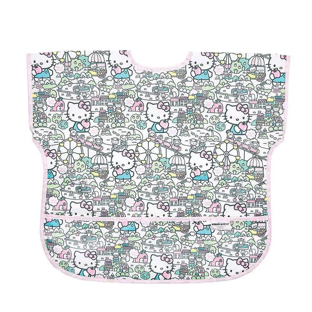美國 Bumkins - 防水短袖圍兜-Hello Kitty