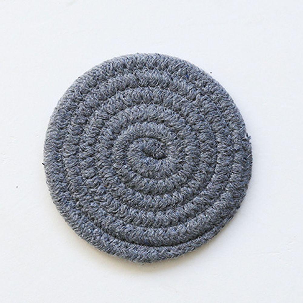 日系感編織隔熱墊-深灰色