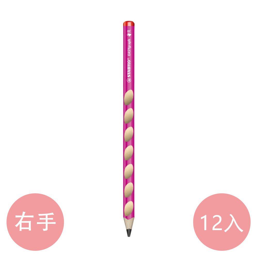 STABILO思筆樂 - 洞洞筆 鉛筆系列 右手 HB(粉紅) 12支入