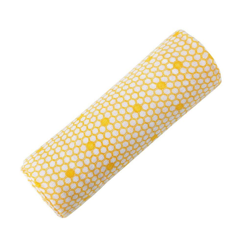 美國 Malabar baby - 有機棉包巾-金黃蜜糖 (120*120cm)