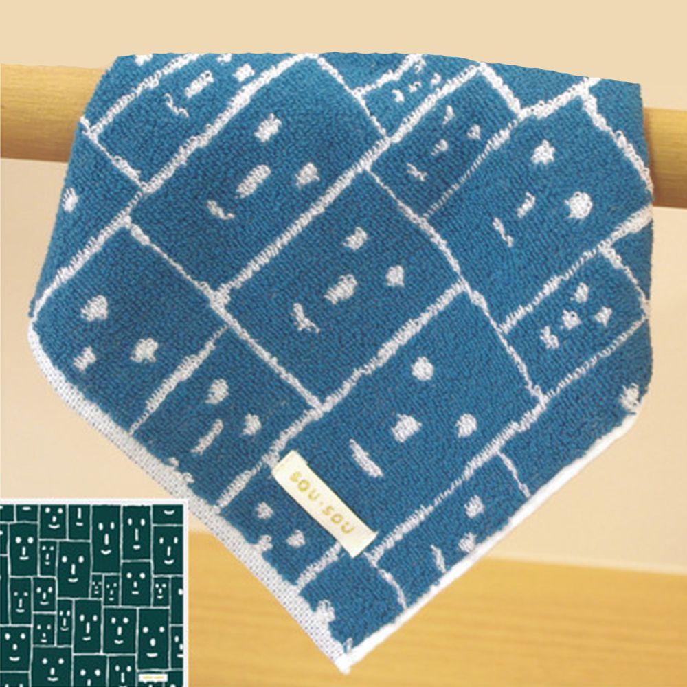 日本代購 - 【SOU·SOU】日本製今治純棉方巾-笑顏 (25x25cm)