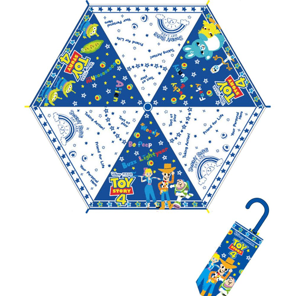 日本代購 - 卡通折疊雨傘-玩具總動員-藍白 (53cm(125cm以上))