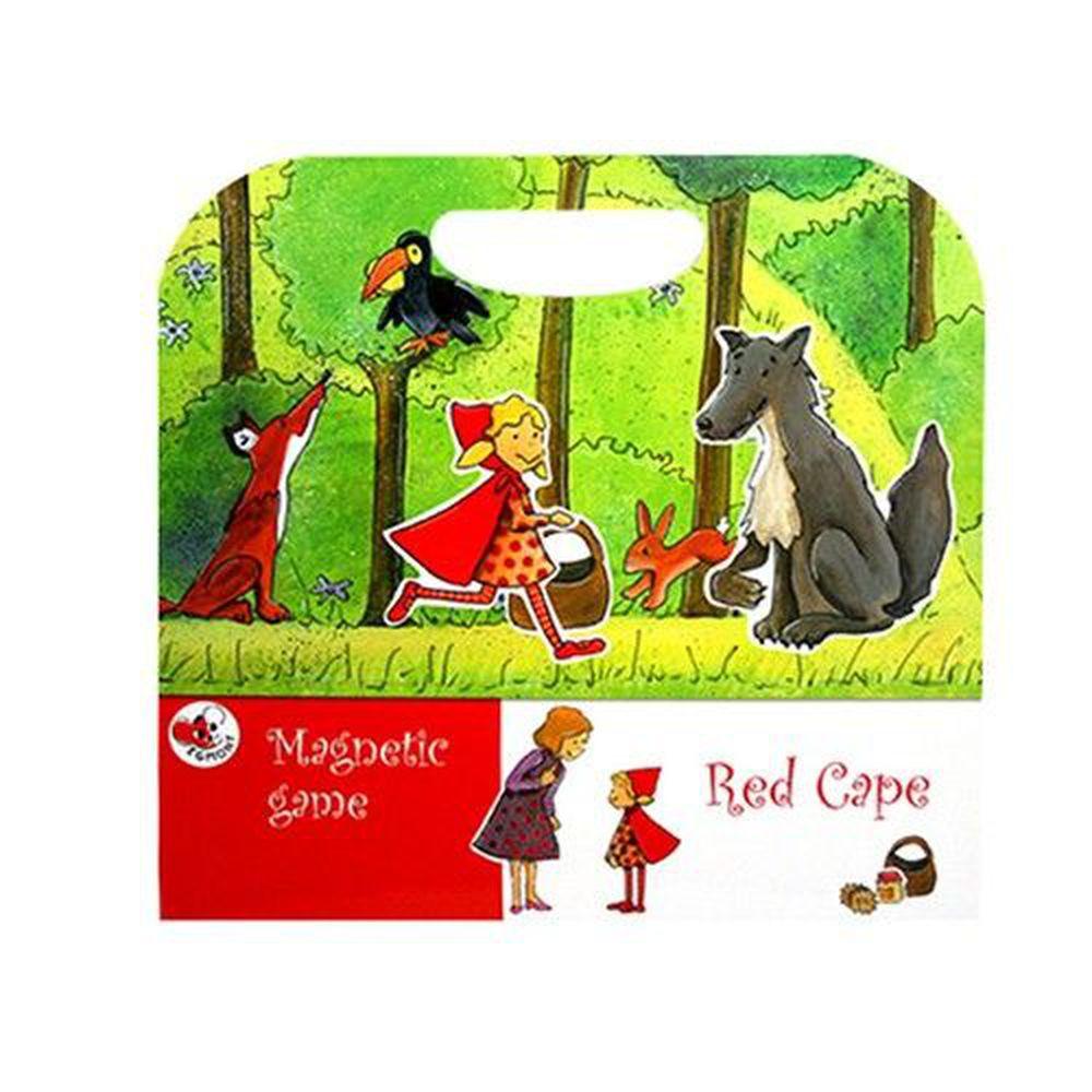 比利時艾格蒙 - 繪本風磁鐵書-Red Cape 小紅帽-25x24x1 cm