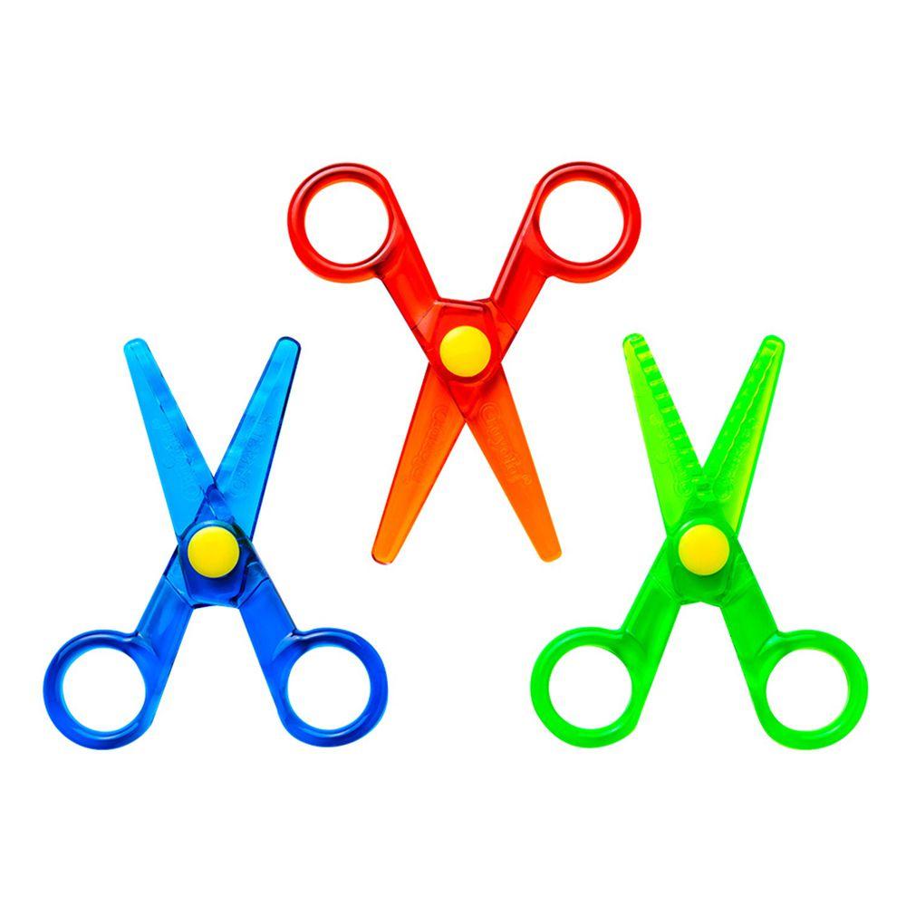 Crayola繪兒樂 - 幼兒安全造型剪刀3件組-36m+