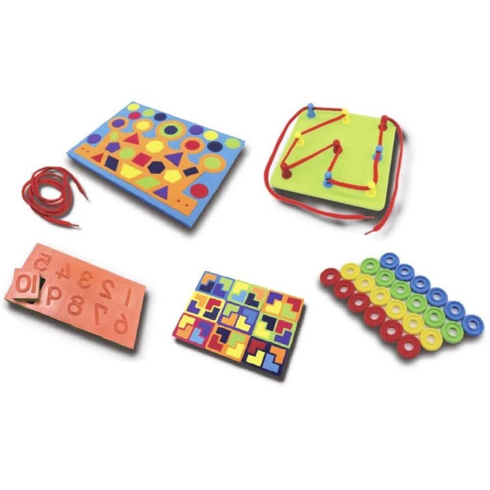 資優數學 - 30種智力遊戲-系列2 趣味動手版(下)-5份練習單+教具5份