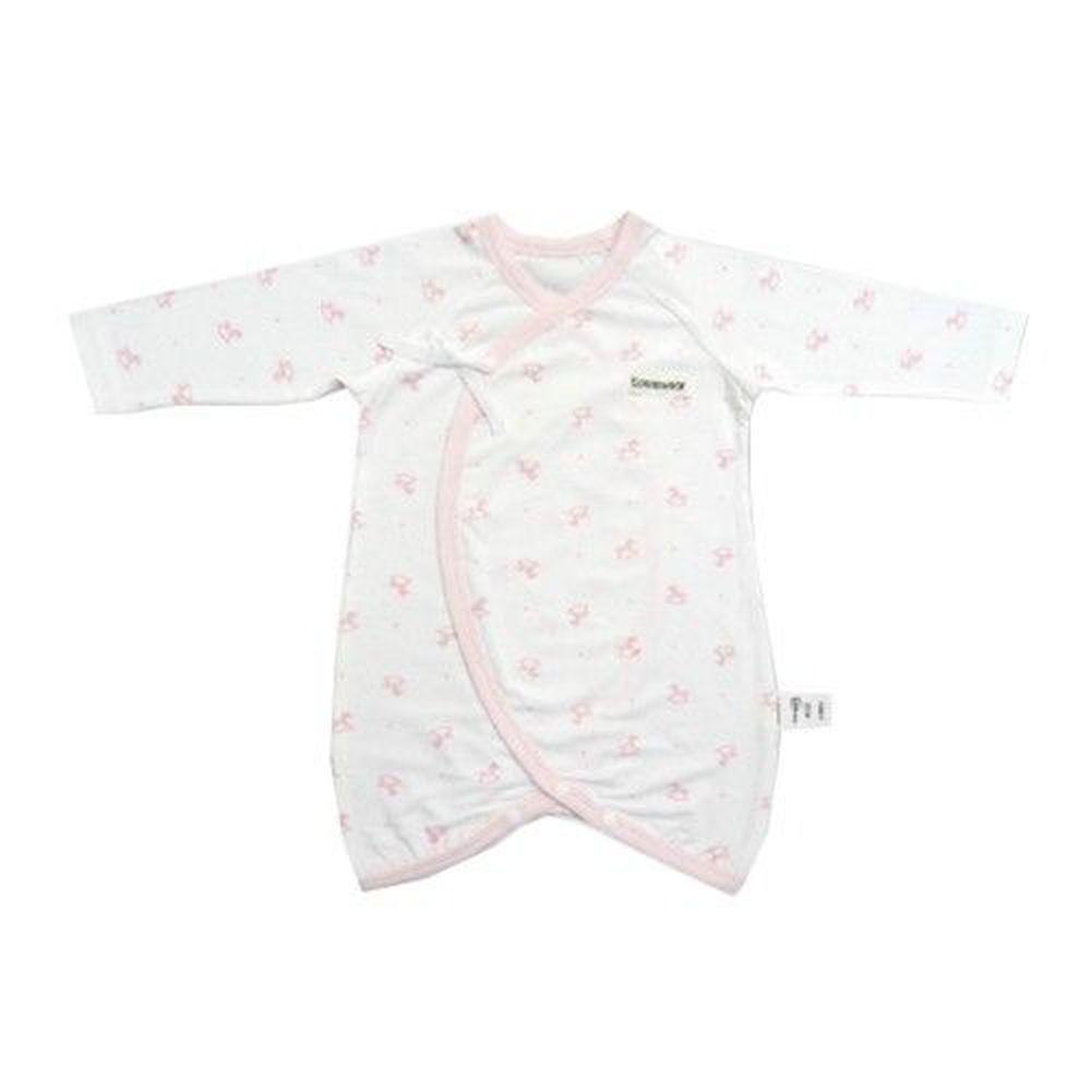 Edenswear 伊登詩 - 鋅健康抗敏系列-嬰兒印花綁帶蝴蝶裝-淺粉