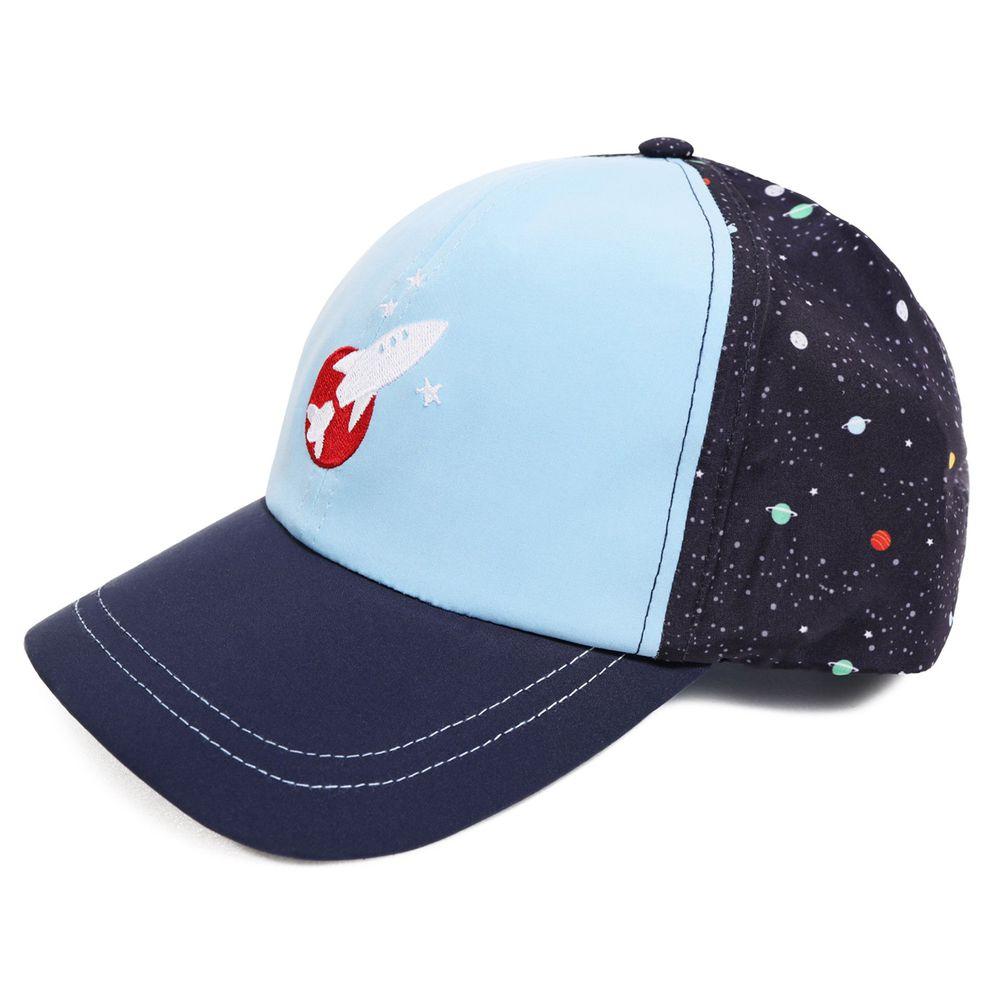 美國 Dabbawalla - 瓦拉帽-星空火箭涼感棒球帽 (3-10歲(頭圍52~56.5cm))