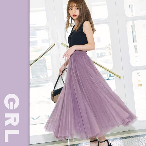 [現貨供應]仙女下凡 ♥ 日本 GRL 顯瘦紗裙現貨到!