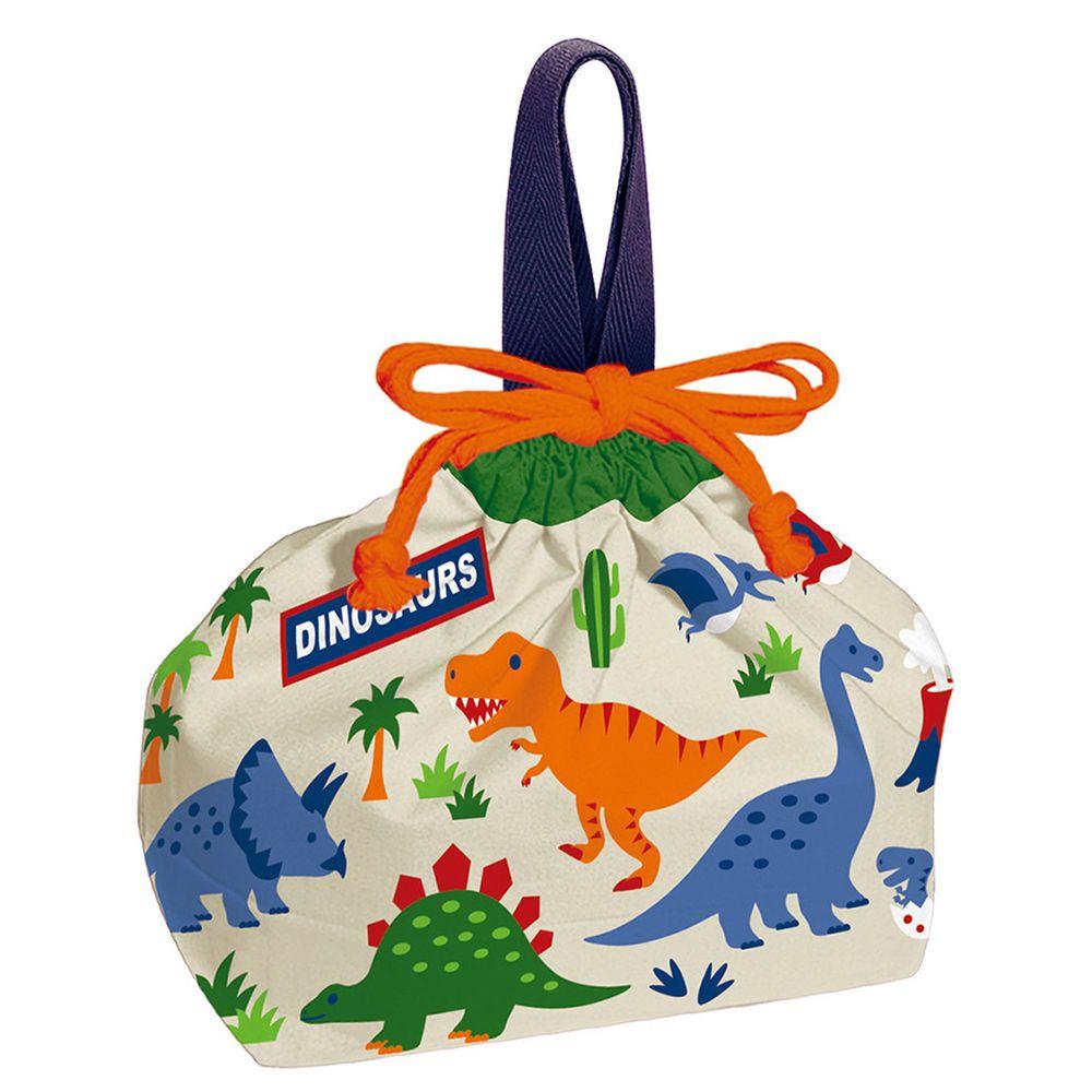 日本 SKATER 代購 - 日本製純棉束口手提袋-恐龍世界 (29x16.5x12cm)-KB7