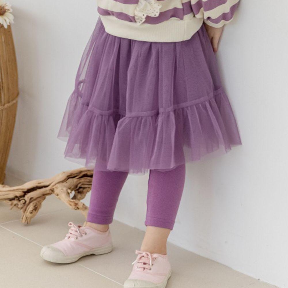 韓國 Orange Mom - 網紗褲裙-紫