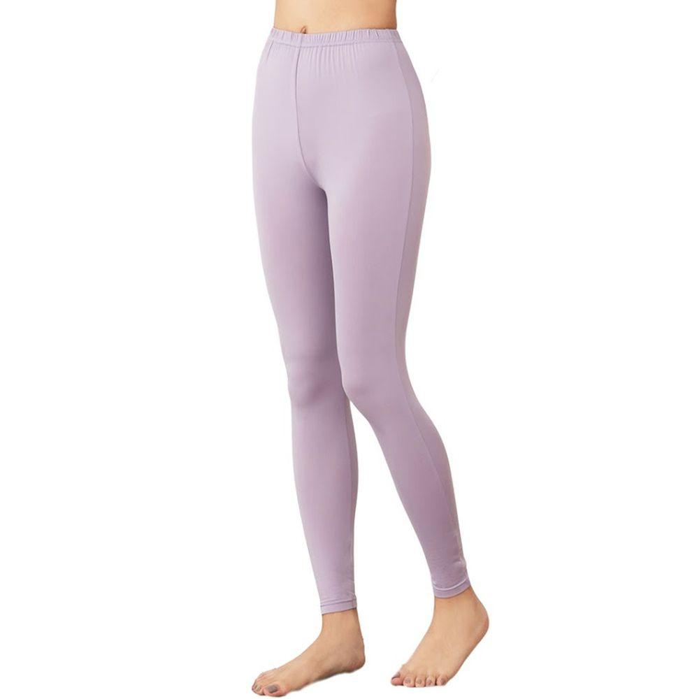 GIAT - 極暖昇溫5℃蓄熱刷毛褲(女款)-薰衣紫