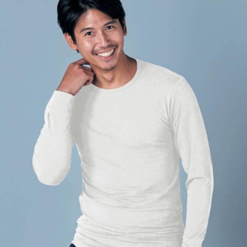 日本千趣會 - 95%棉 (爸爸)圓領發熱衣-白色