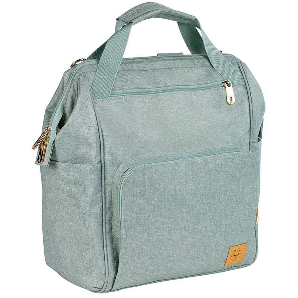 德國 Lassig - 時尚完美大開口後背媽媽包-薄荷綠-含尿布墊+推車掛勾+保溫瓶收納包+小收納包+長背帶