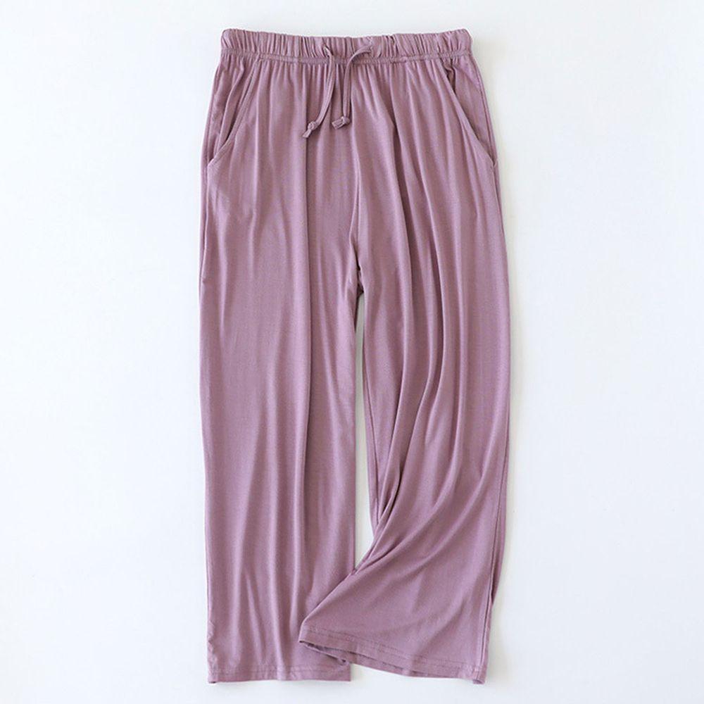 莫代爾柔軟涼感七分褲-紫色