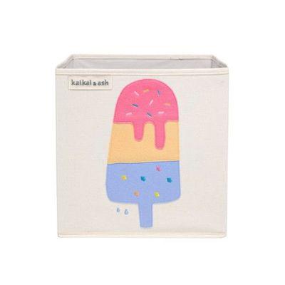 玩具收納箱-青檸草莓冰棒 (33x33x33cm)