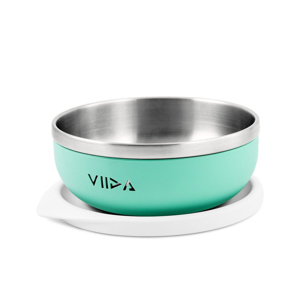 VIIDA - Soufflé抗菌不鏽鋼兒童餐碗-餐碗-綠