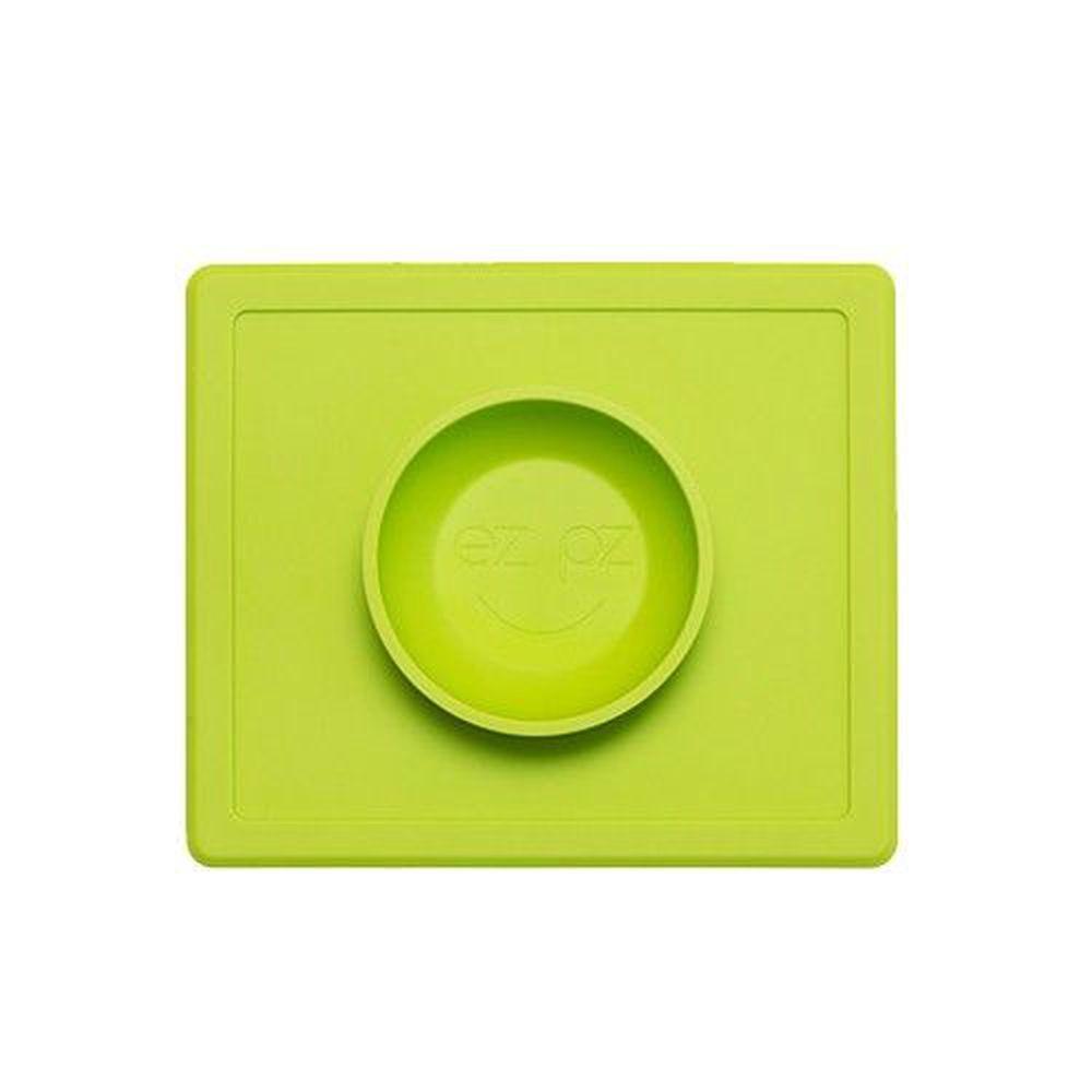 美國 ezpz - 快樂餐盤 Happy Bowl-餐碗-蘋果綠 (26cm*23cm*3.8cm)-240ml