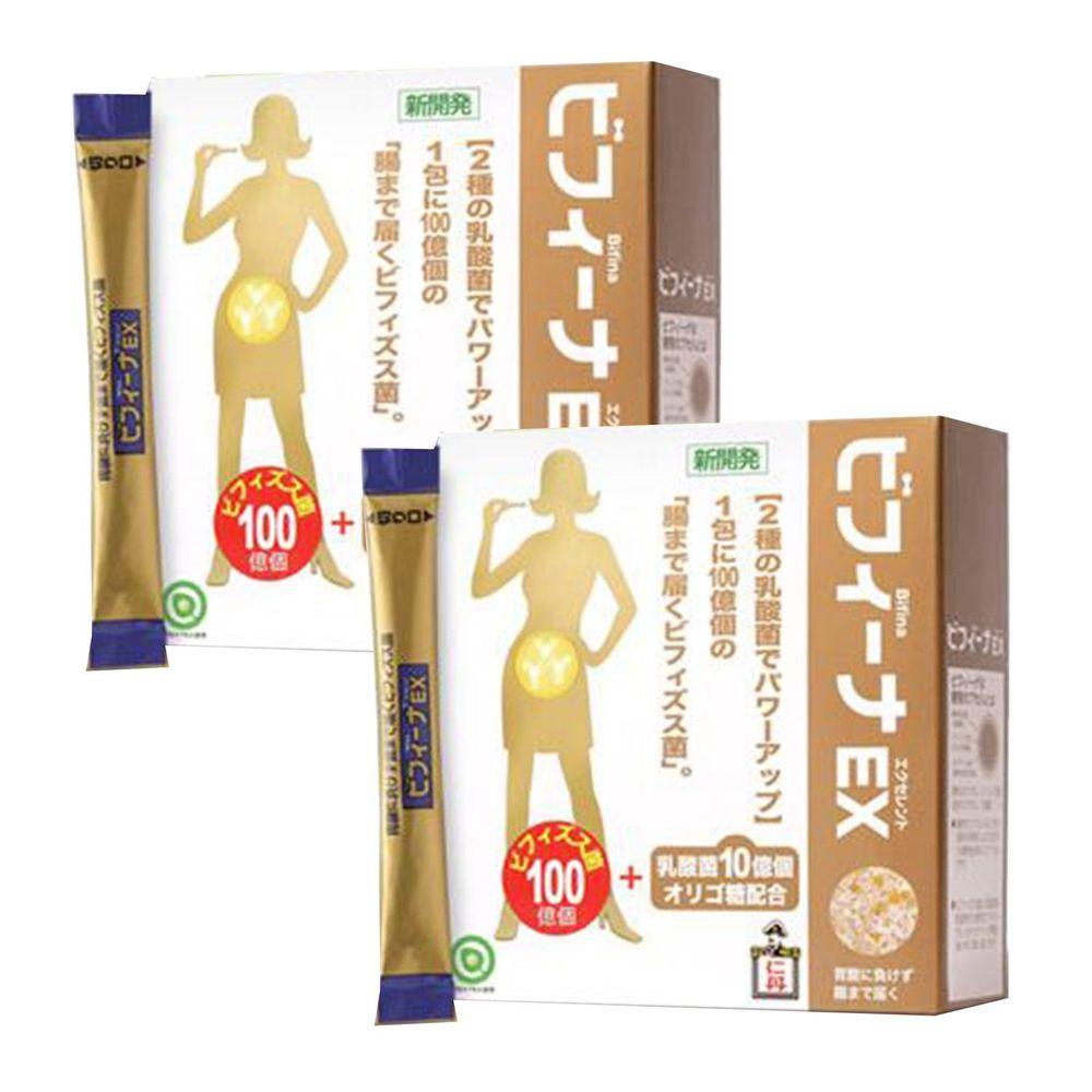 日本森下仁丹 - 100+10晶球長益菌-頂級版2盒組(30條/盒)-日本經典款組合