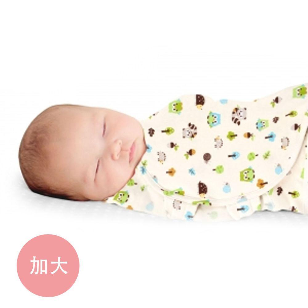 Summer Infant - 聰明懶人育兒包巾2入組-貓頭鷹 (加大)-適用年齡:4~6個月