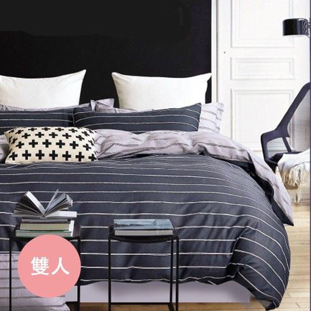 PureOne - 極致純棉寢具組-悠閒時光-雙人四件式床包被套組