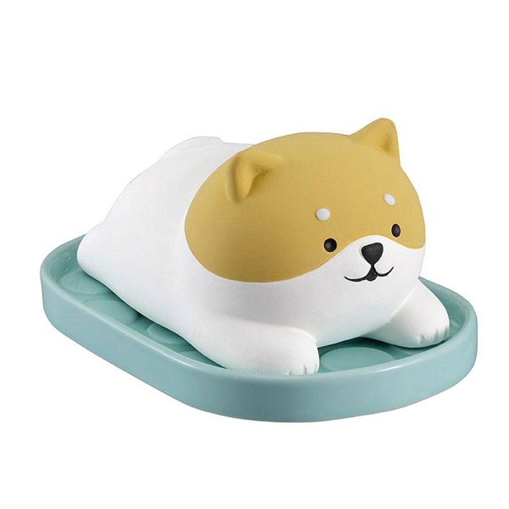 日本 DECOLE - 療癒環保除濕擺飾(可重複使用)-懶洋洋 柴犬