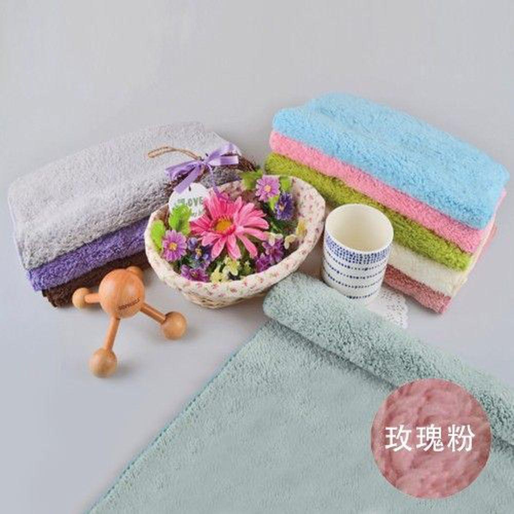 貝柔 Peilou - 超強十倍吸水超細纖維抗菌潔膚巾3入組合-玫瑰粉 (30x75cm)